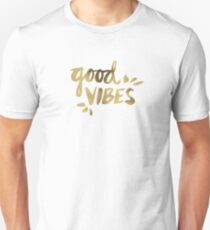 Good Vibes - Gold Ink Unisex T-Shirt
