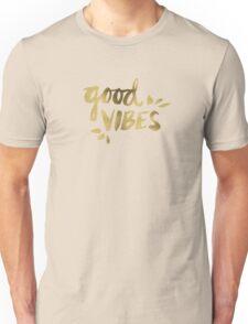 Good Vibes - Gold Ink Unisex T-Shirt