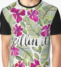 Killin' It – Tropical Pink Graphic T-Shirt