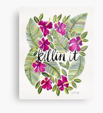 Killin' It – Tropical Pink Metal Print