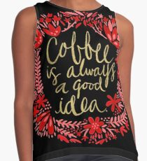 Coffee on Charcoal Contrast Tank