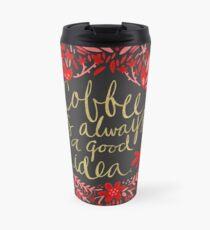 Coffee on Charcoal Travel Mug