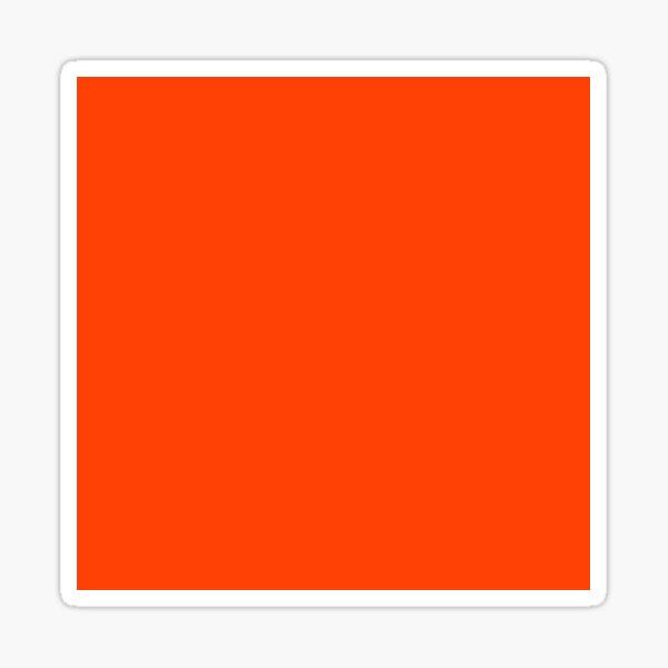 Bright Fluorescent Attack Orange Neon Sticker