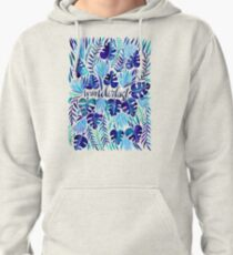 Tropical Wanderlust – Blue Pullover Hoodie