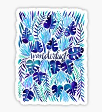 Tropical Wanderlust – Blue Sticker
