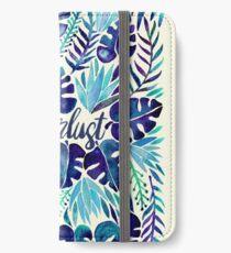 Tropisches Wanderlust - Blau iPhone Flip-Case/Hülle/Skin