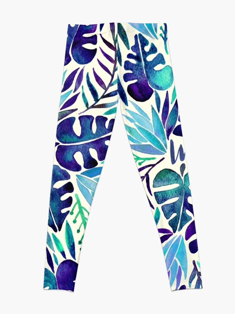 Alternate view of Tropical Wanderlust – Blue Leggings