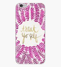 Treat Yo Self – Gold & Pink iPhone Case