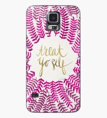 Treat Yo Self – Gold & Pink Case/Skin for Samsung Galaxy