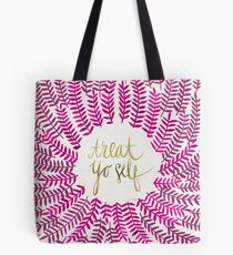 Treat Yo Self – Gold & Pink Tote Bag