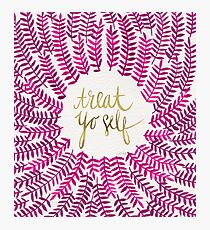 Treat Yo Self – Gold & Pink Photographic Print