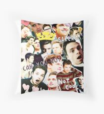 sebastian stan collage Throw Pillow