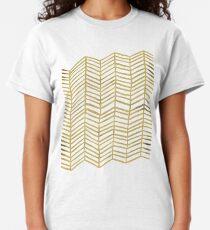 Gold Herringbone Classic T-Shirt