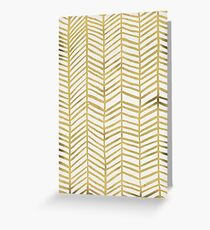 Gold Herringbone Greeting Card