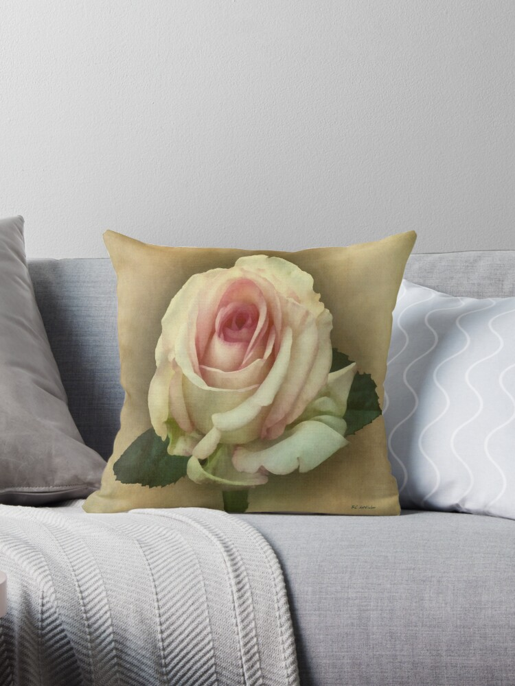 Victorian Blush Tote and Pillow by RC deWinter