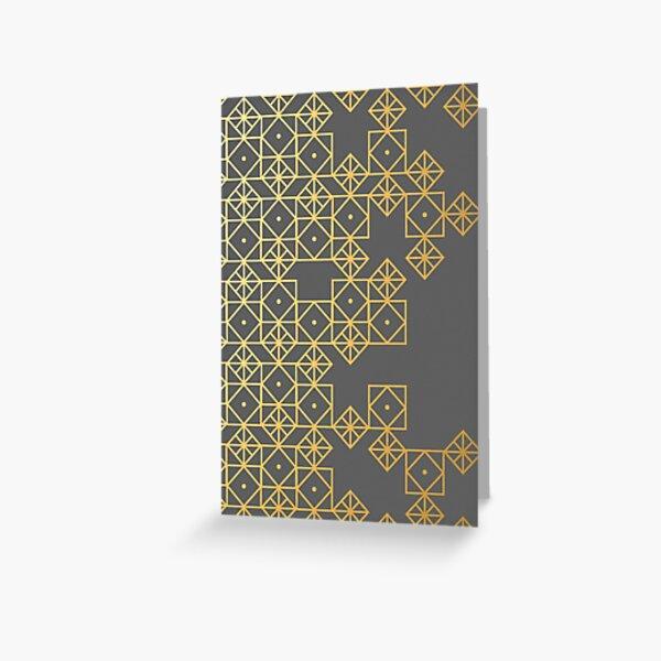 Geometric Gold Greeting Card