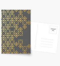Geometric Gold Postcards