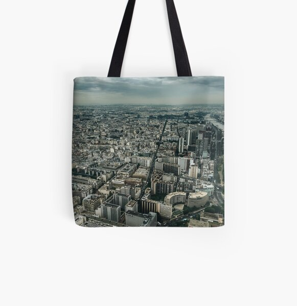 Paris All Over Print Tote Bag