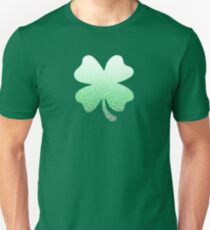 Ombre green and white swirls doodles Unisex T-Shirt