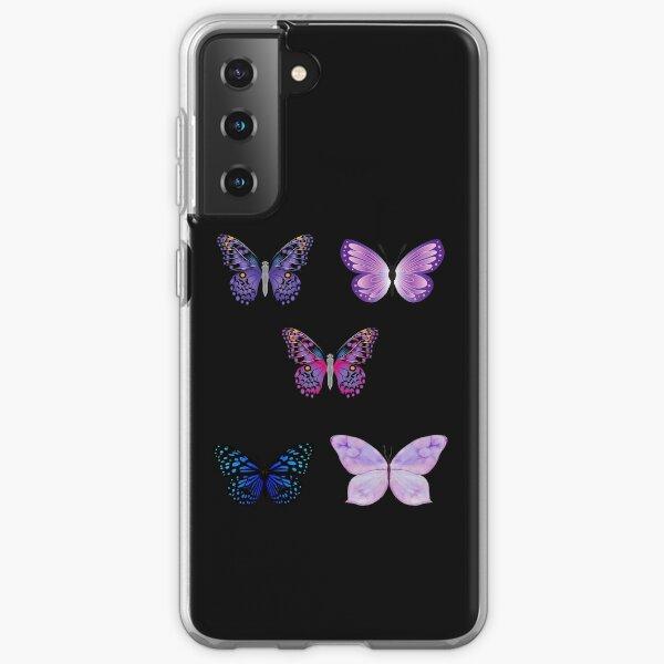 Butterfly Sticker Set  Samsung Galaxy Soft Case