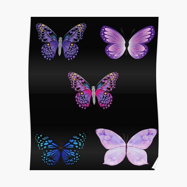 Butterfly Sticker Set  Poster