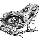 Eye-Back frog by graceeyeside