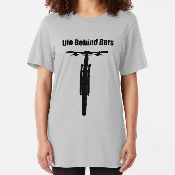 Life Behind Bars Mountain Bike Slim Fit T-Shirt