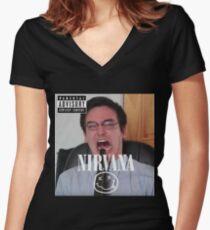 Filthy Frank Life Hacks Women's Fitted V-Neck T-Shirt