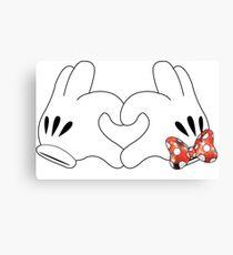 Minnie and Mickey Love Canvas Print