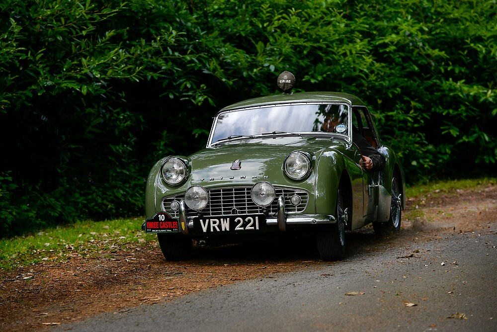 The Three Castles Welsh Trial 2014 - Triumph TR3A by Three-Castles