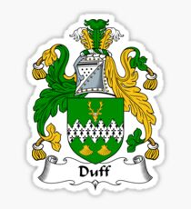 Duff Coat of Arms / Duff Family Crest Sticker