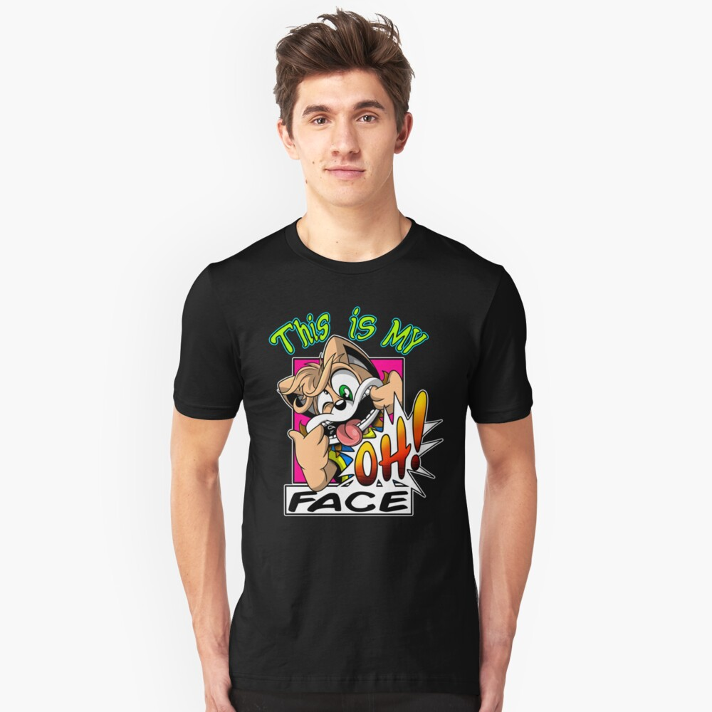 OH face Unisex T-Shirt Front