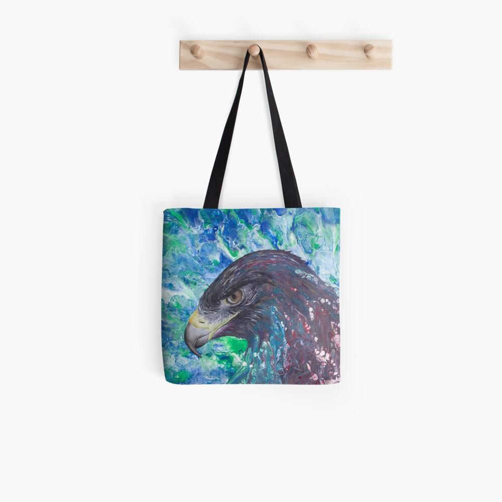Adler in Pouring Kunst (originale Farbe) Stofftasche