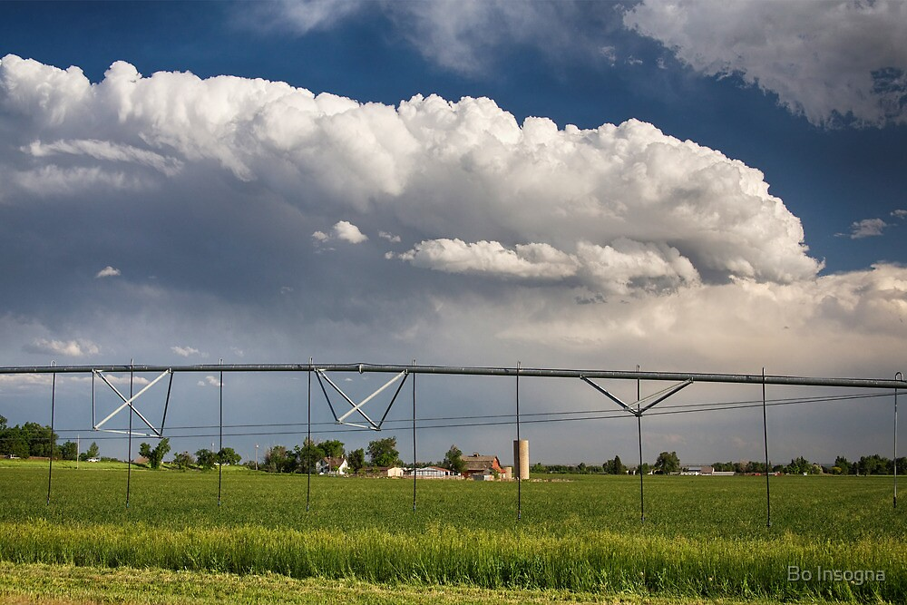 Stormy Country Skies by Bo Insogna