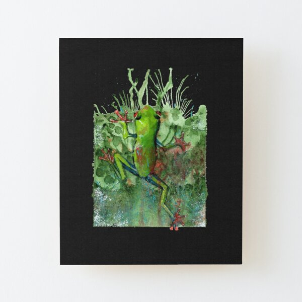 Leaping Frog Wood Mounted Print