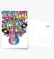 Peace, Love and Music Postcards