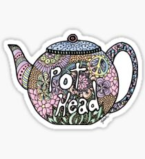 Tea Pot Head Sticker