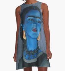 Blue Frida A-Line Dress
