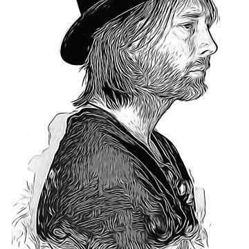Radiohead - thom yorke by elstudio