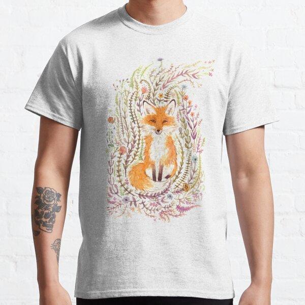 Fox and Flowers II Classic T-Shirt