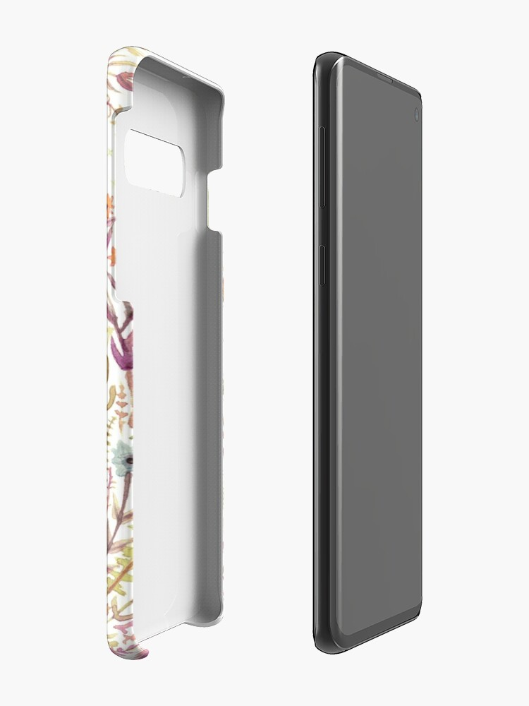 Alternate view of Fox and Flowers II Case & Skin for Samsung Galaxy