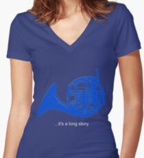 A Long Story Women's Fitted V-Neck T-Shirt