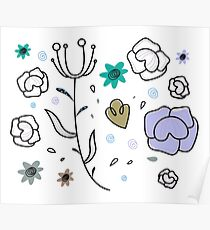 """Floral Metamorphosis"" - Just Original Artistic Piece! Poster"