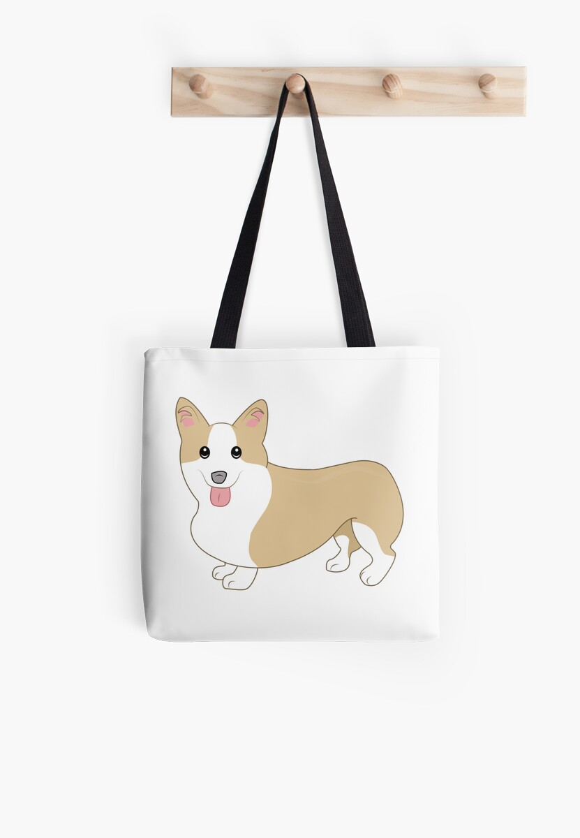 Happy Welsh Corgi Illustration by PatiDesigns