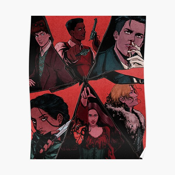 six of crows illustration (textured) Poster