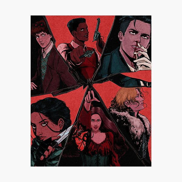 six of crows illustration (textured) Photographic Print