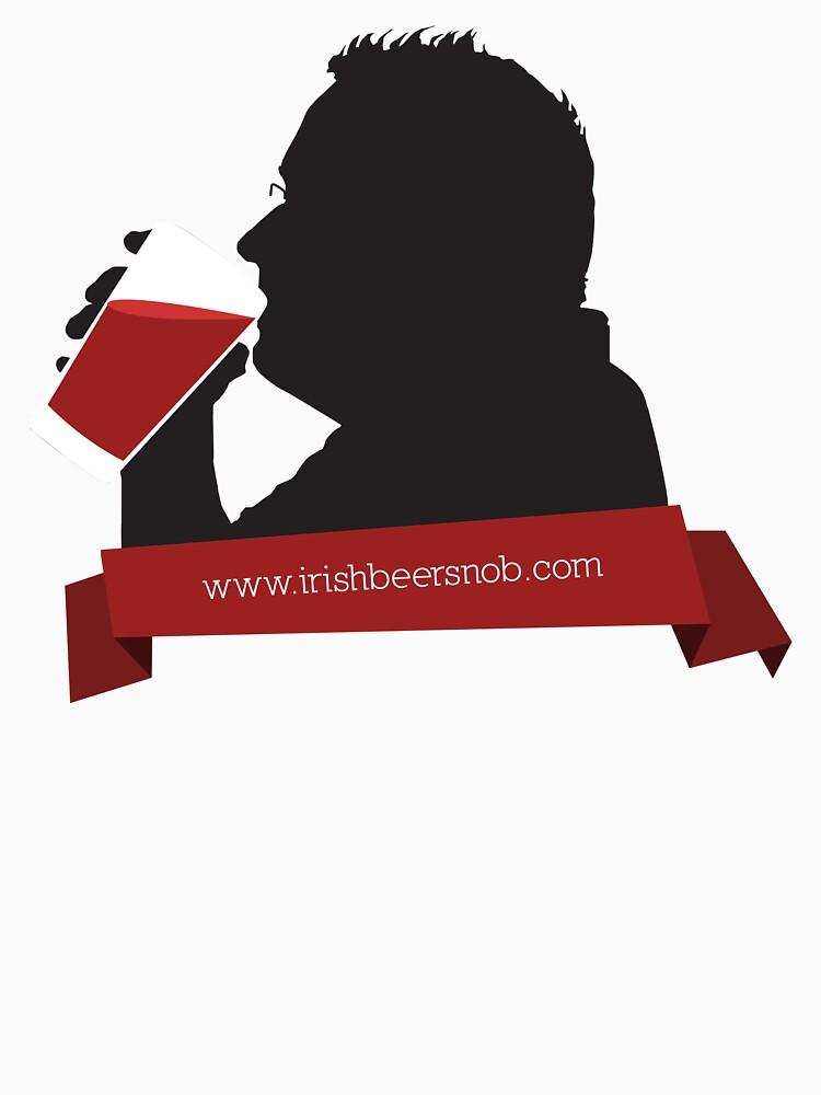 New Beer Snob - Silouhette Black by irishbeersnob