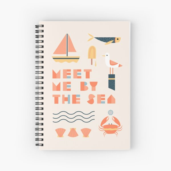 Meet me by the sea Spiral Notebook