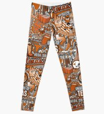 Texas Collage Leggings