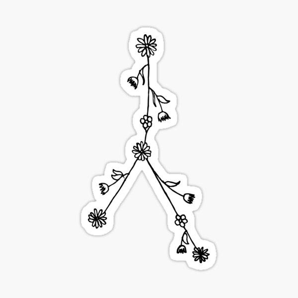 Floral Constellation Sticker